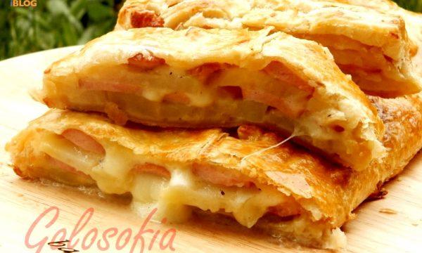 Rotolo pasta sfoglia patate e wurstel, ricetta rustici