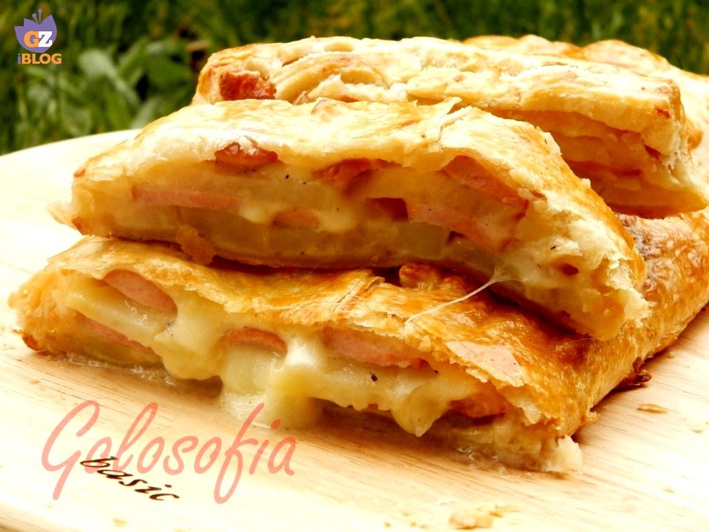 Favori Rotolo pasta sfoglia patate e wurstel, ricetta rustici KJ09