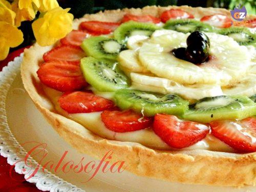 Crostata con crema al limone e frutta fresca, ricetta estiva
