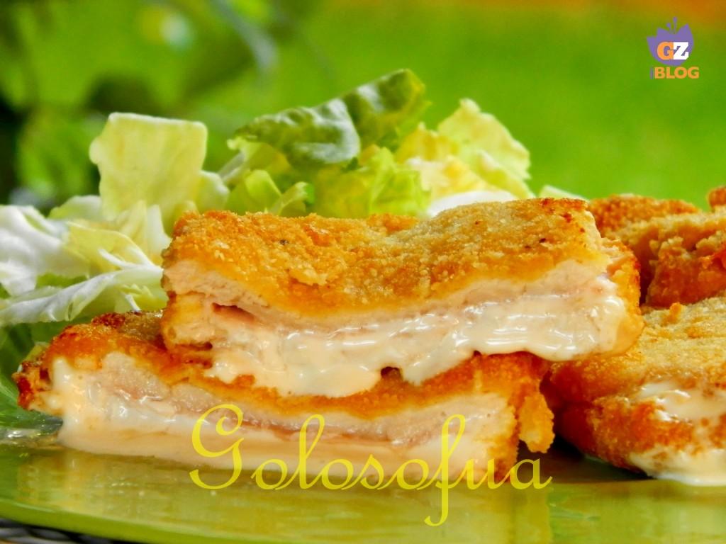 Cotoletta ripiena prosciutto e formaggio-ricetta secondi di carne-golosofia