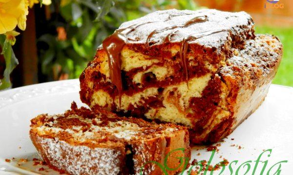 Plumcake variegato al cioccolato, ricetta soffice