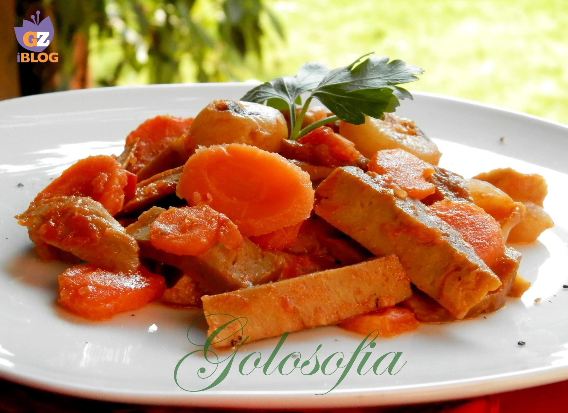 Spezzatino di seitan con verdure-ricetta secondi-golosofia