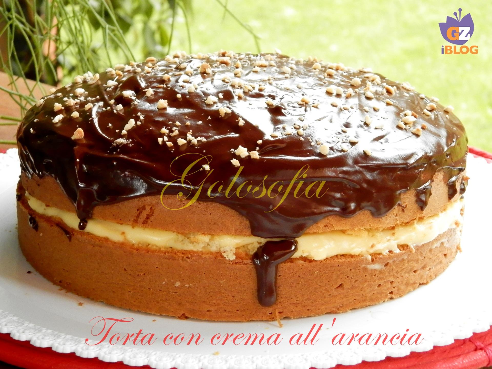 Torta con crema all'arancia e cioccolato-ricetta torte-golosofia