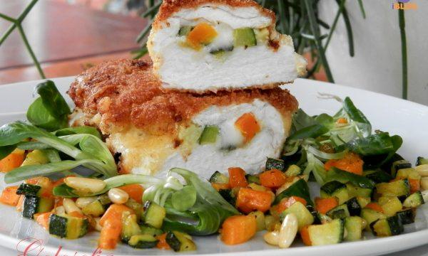 Suprema di pollo ripiena di verdure e formaggio, ricetta secondi
