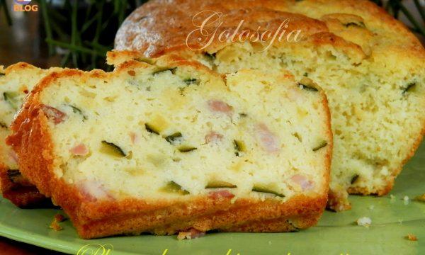 Plum cake zucchine e pancetta, ricetta saporita