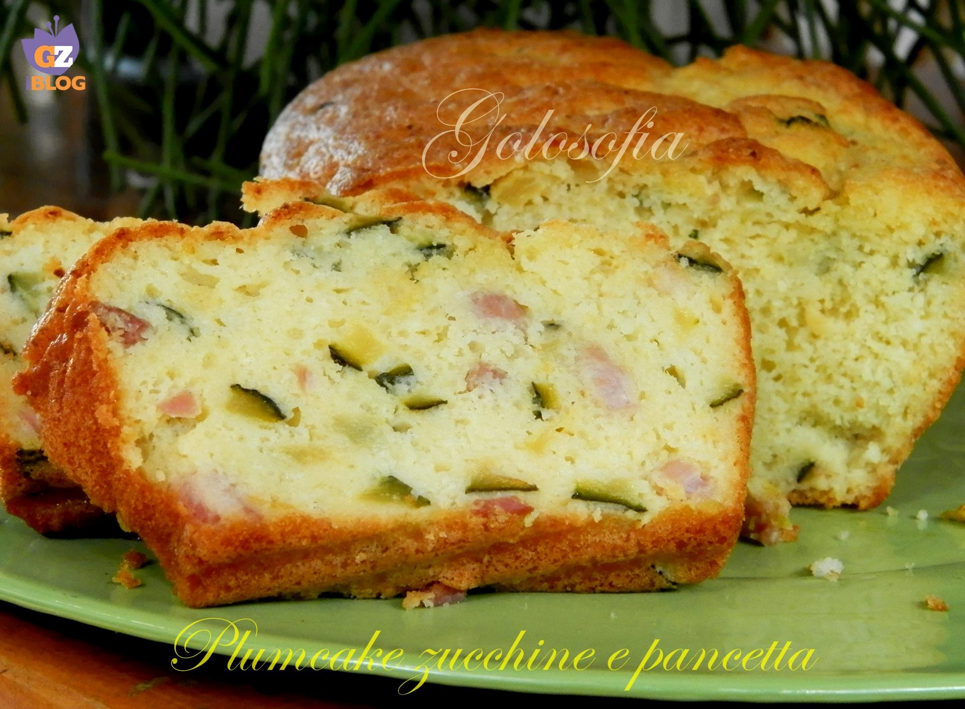 Plumcake zucchine e pancetta-ricetta antipasti-golosofia