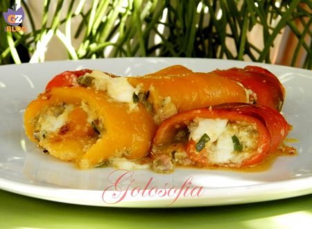 Involtini di peperoni ripieni al forno, ricetta gustosa