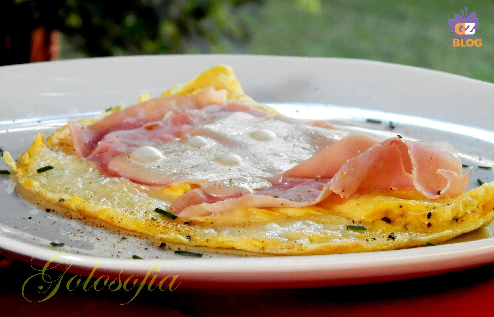 Omelette al prosciutto e formaggio-ricetta secondi-golosofia