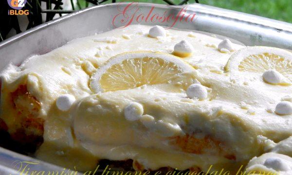 Tiramisù al limone e cioccolato bianco, ricetta dolci