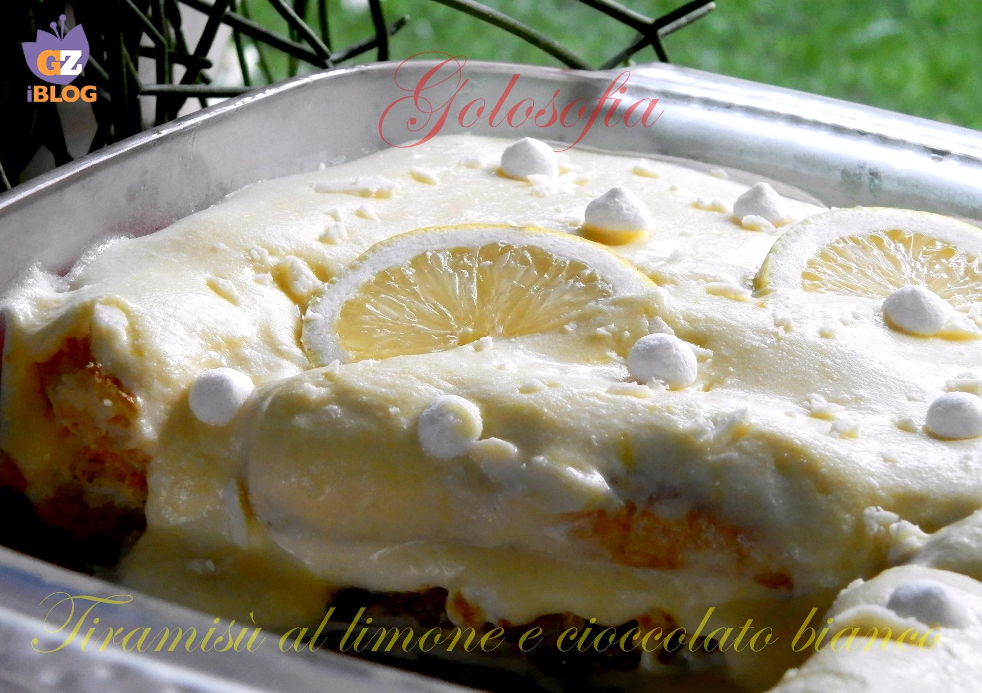 Tiramisù al limone e cioccolato bianco-ricetta dolci-golosofia