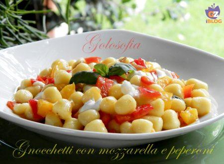 Gnocchetti mozzarella e peperoni, ricetta veloce