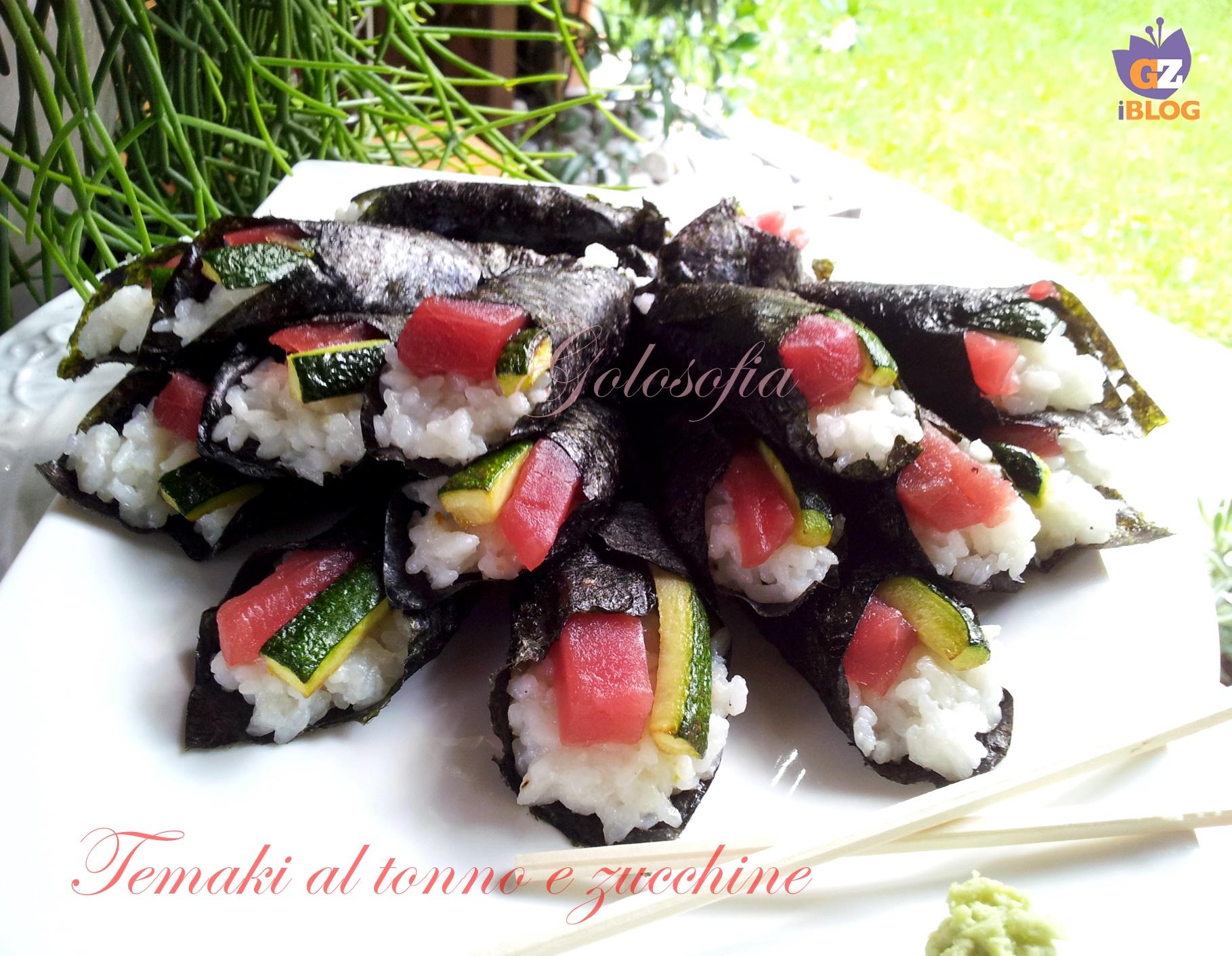 Temaki al tonno e zucchine-ricetta secondi-golosofia