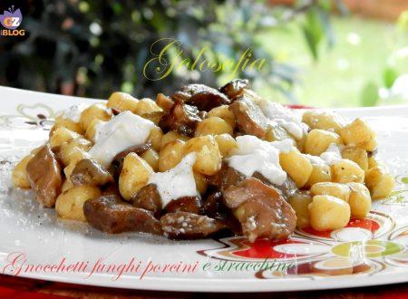 Gnocchetti con funghi porcini e stracchino, ricetta gustosa