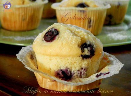 Muffin ai mirtilli e cioccolato bianco, ricetta semplice