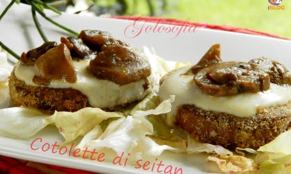 Cotolette di seitan con funghi e besciamella, ricetta vegetariana