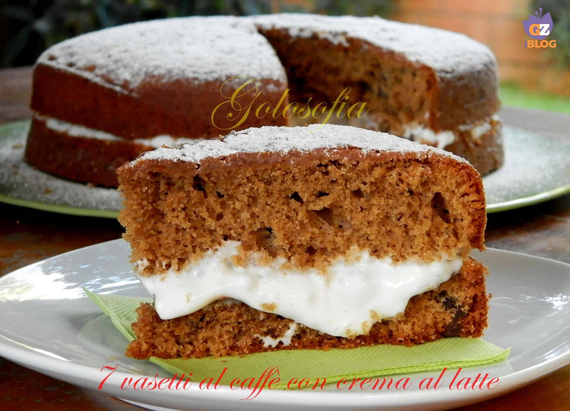 Torta 7 vasetti al caffè con crema al latte-ricetta torte-golosofia