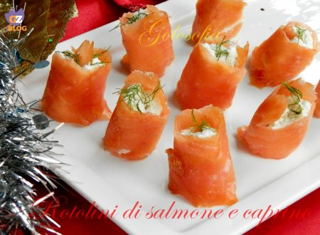 Rotolini di salmone e caprino, ricetta vigilia di Natale