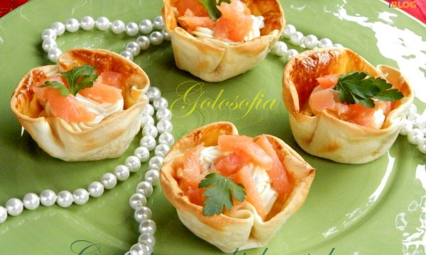 Cestini con robiola e salmone, ricetta antipasti