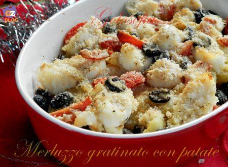 Filetto di merluzzo gratinato con patate, ricetta gustosa