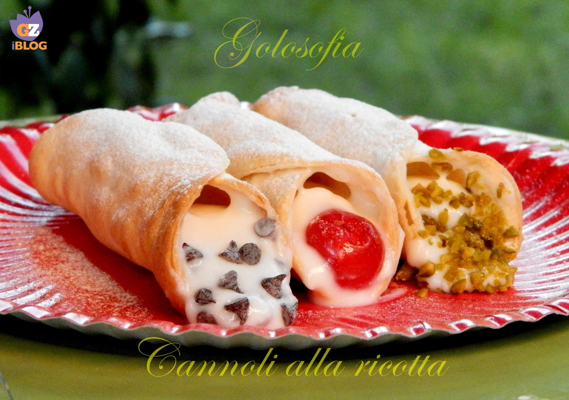 Cannoli alla ricotta-ricetta dolci-golosofia