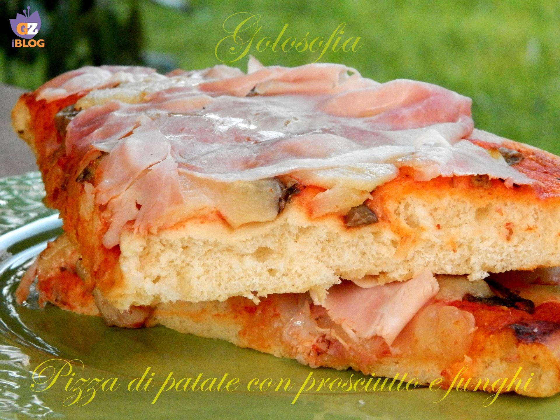 Pizza di patate con prosciutto e funghi, ricetta soffice lievitati