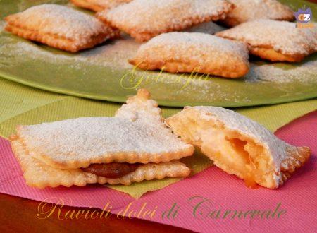 Ravioli dolci con ricotta, nutella e marmellata
