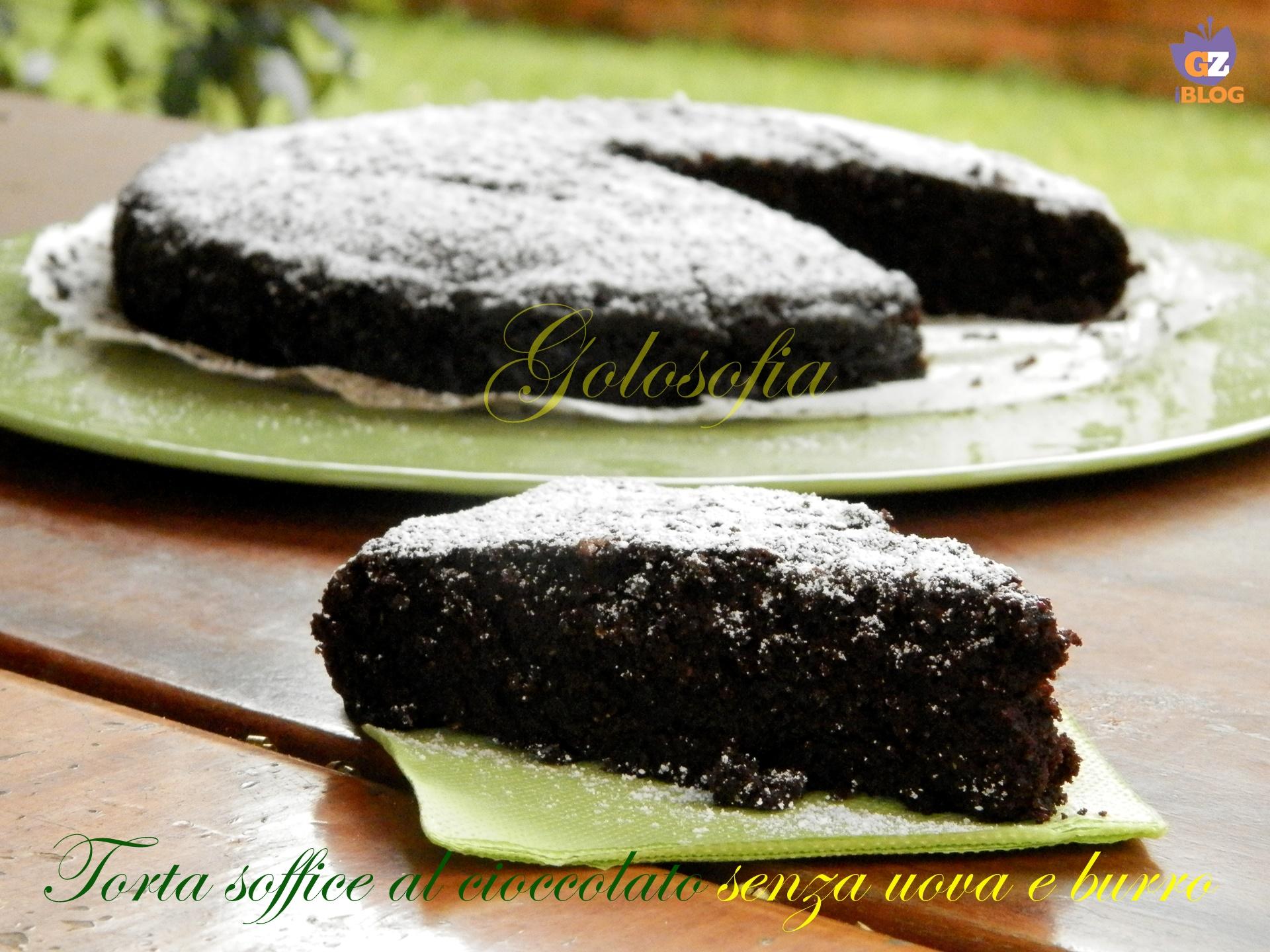 Torta soffice al cioccolato senza uova e burro-ricetta torte-golosofia