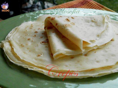 Crepes, ricetta base senza burro
