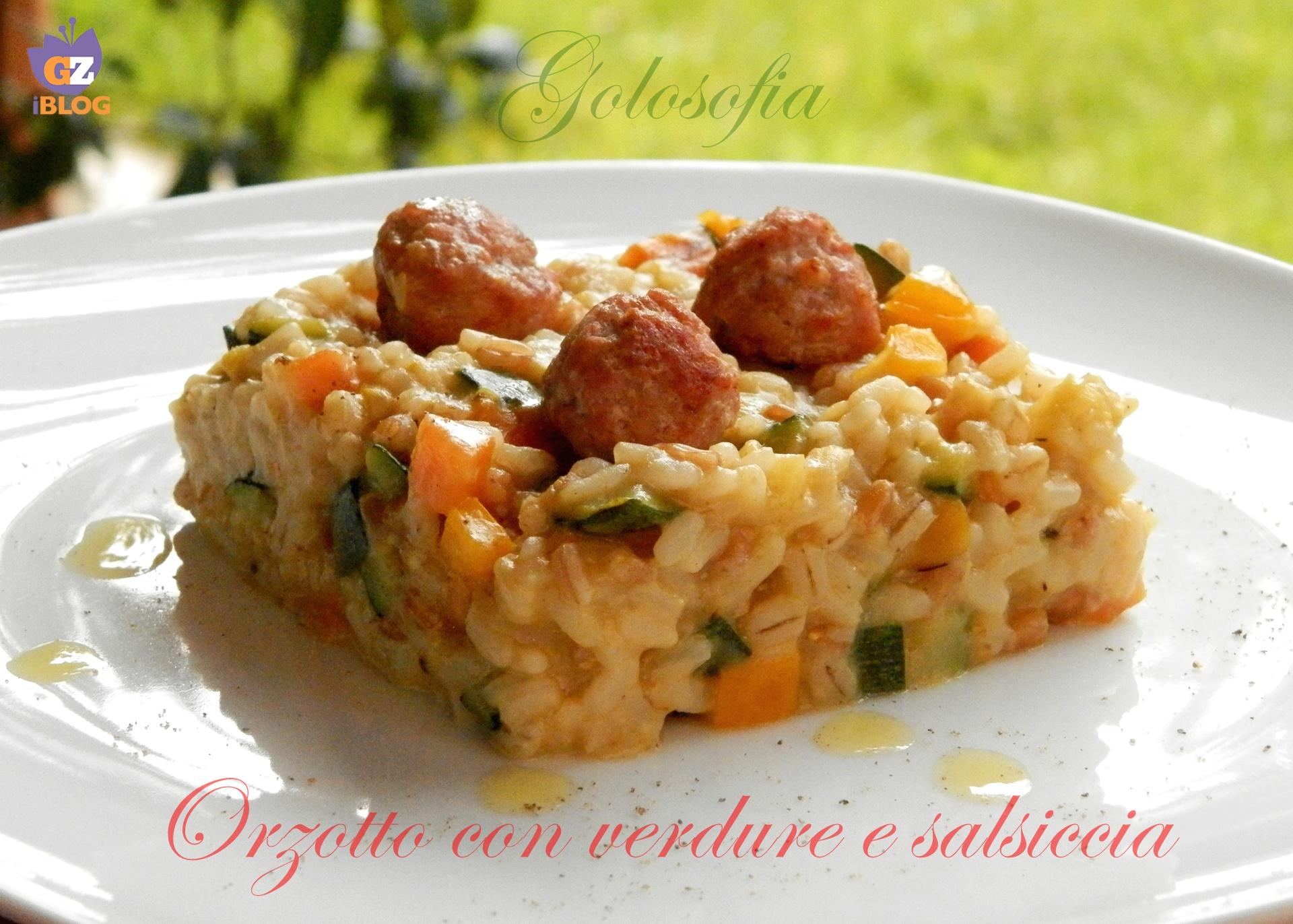 orzotto con verdure e salsiccia-ricetta primi-golosofia