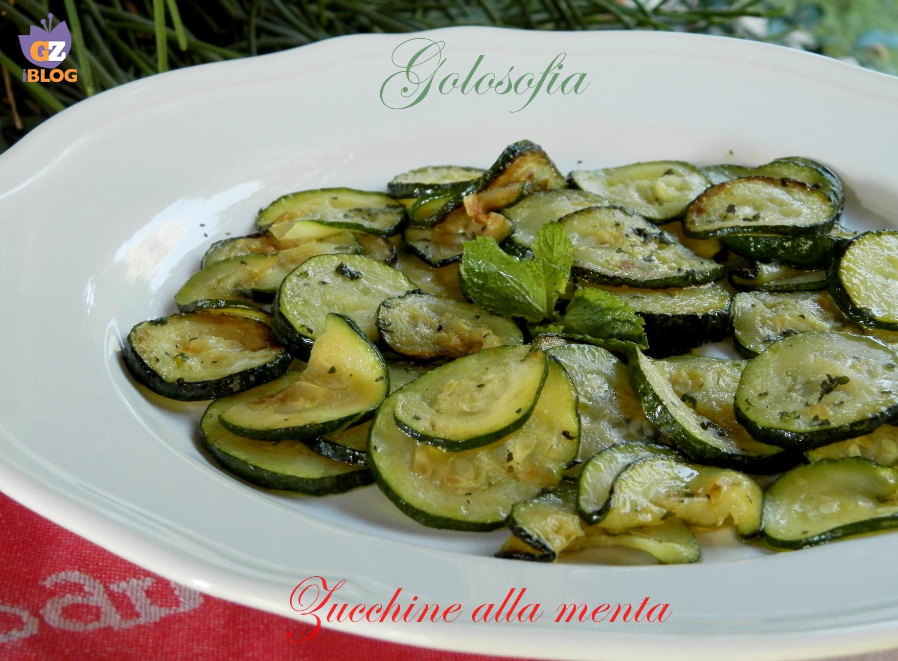 Zucchine alla menta-ricetta contorni-golosofia
