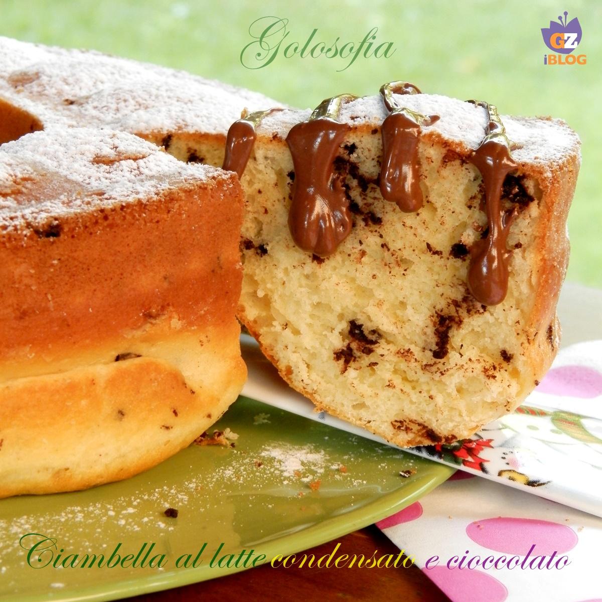 Ciambella al latte condensato e cioccolato-ricetta torte-golosofia