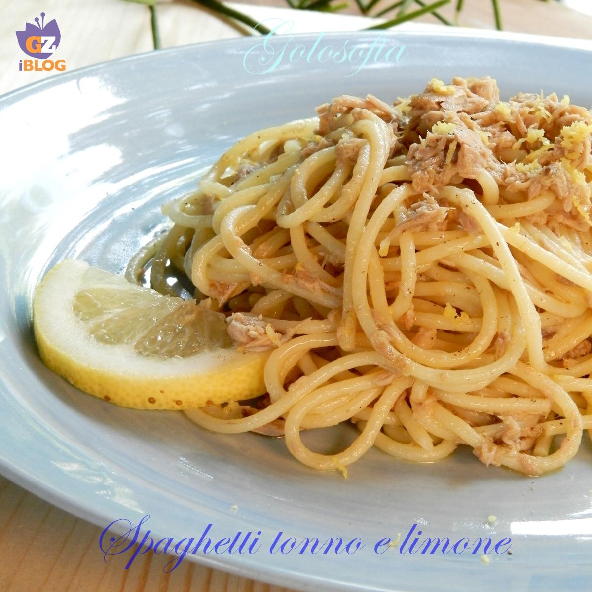 Spaghetti tonno elimone-ricetta primi-golosofia