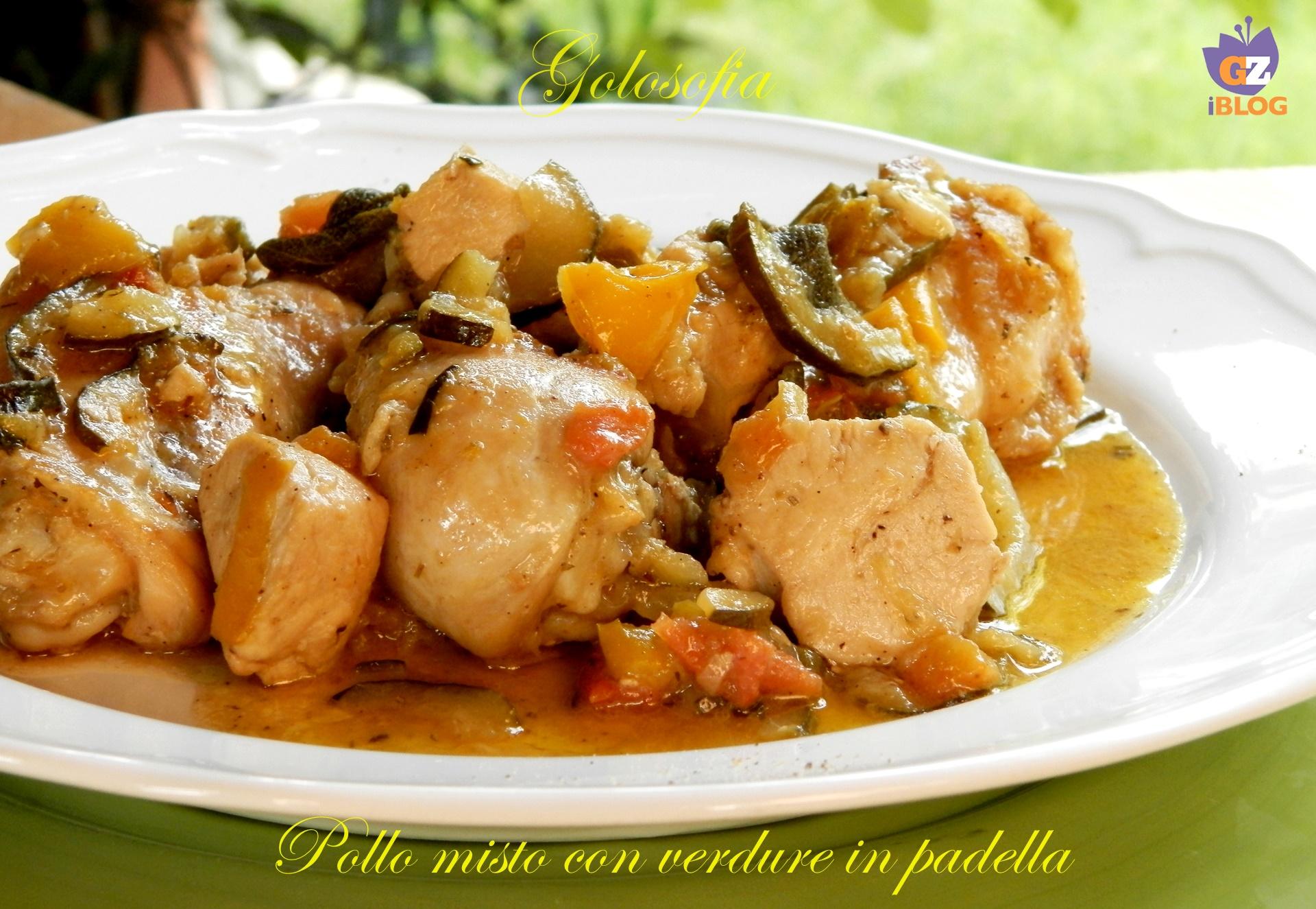 Pollo misto con verdure in padella-ricetta secondi-golosofia