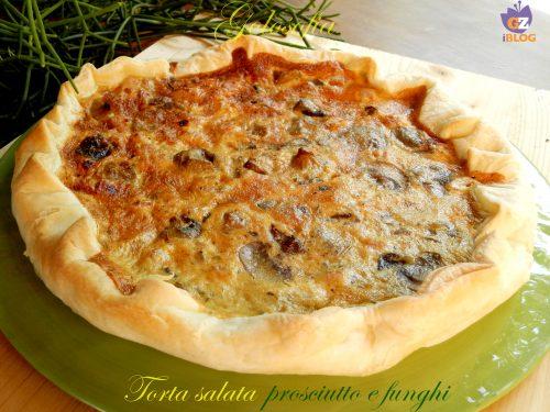 Torta salata prosciutto cotto e funghi, ricetta antipasti