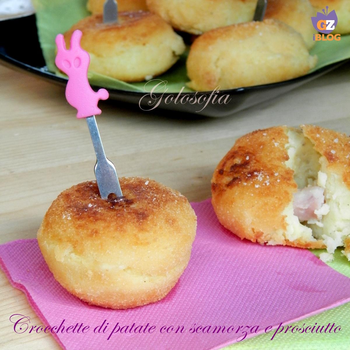 Crocchette di patate scamorza e prosciutto-ricetta secondi-golosofia