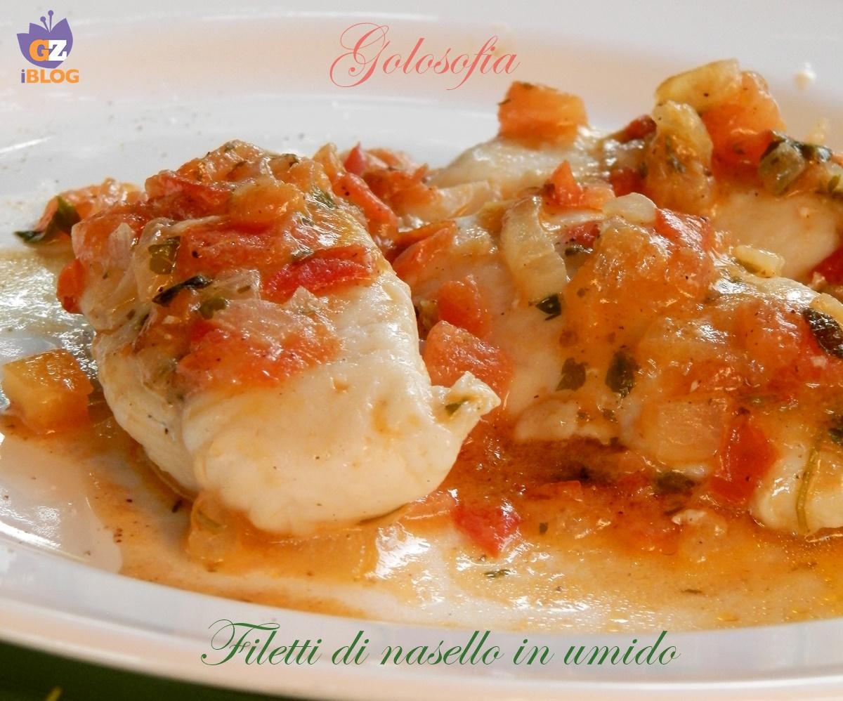 Filetti di nasello in umido, ricetta gustosa leggera