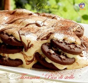Tiramisu' pan di stelle-ricetta dolci-golosofia