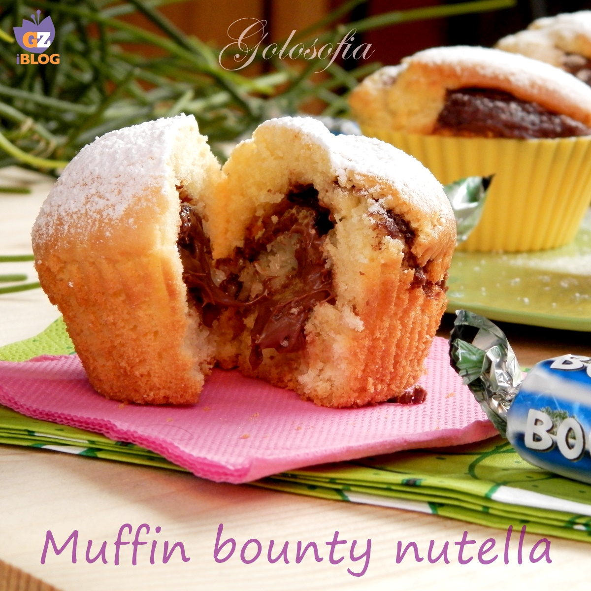 Muffin bounty e nutella-ricetta dolci-golosofia