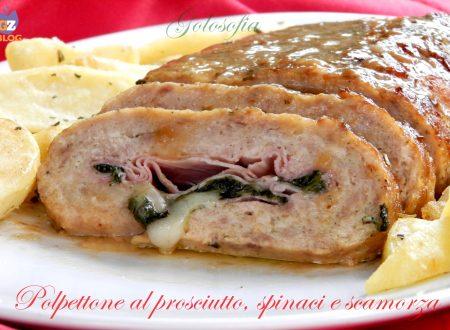 Polpettone al prosciutto, spinaci e scamorza, ricetta buonissima