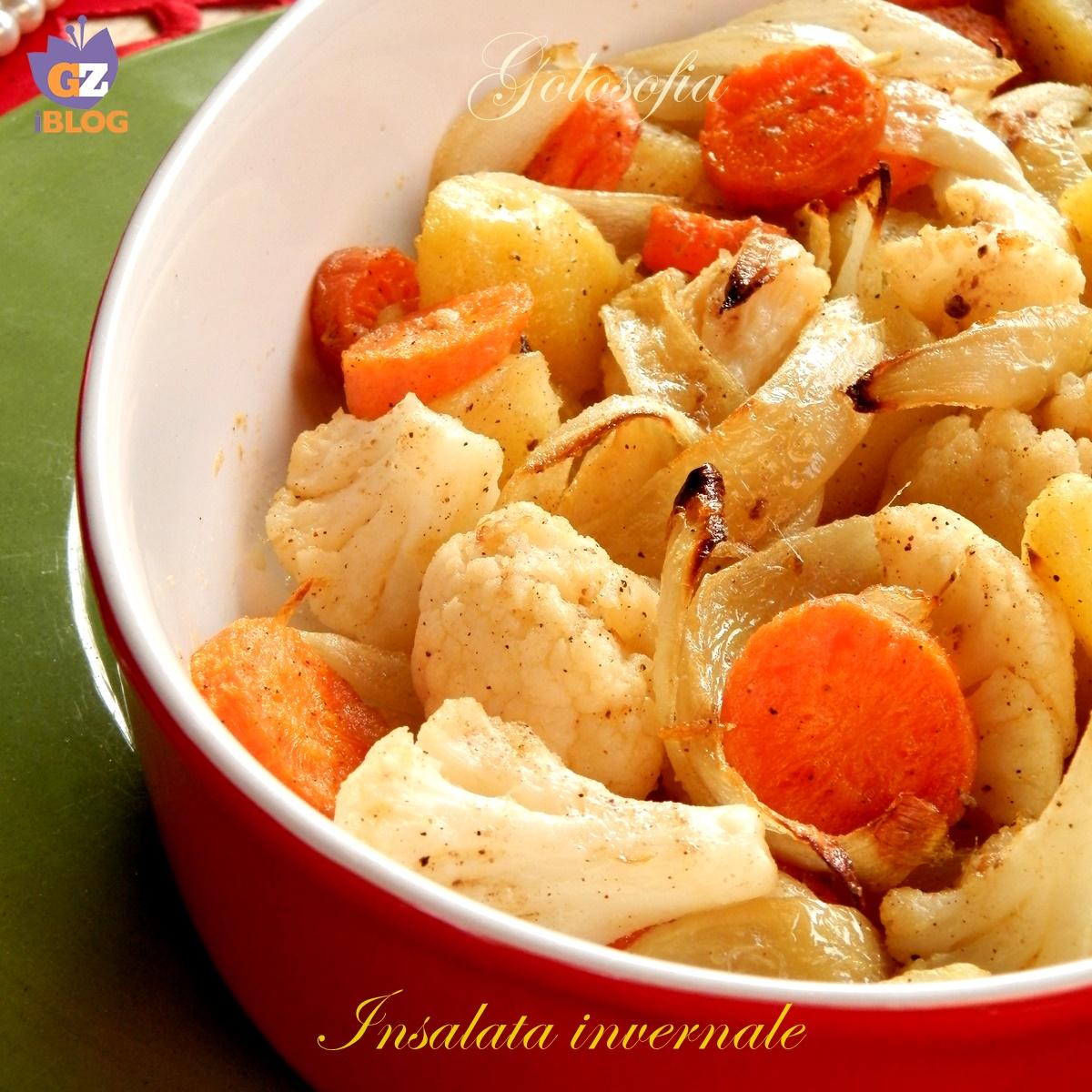 insalata invernale-ricetta contorni-golosofia
