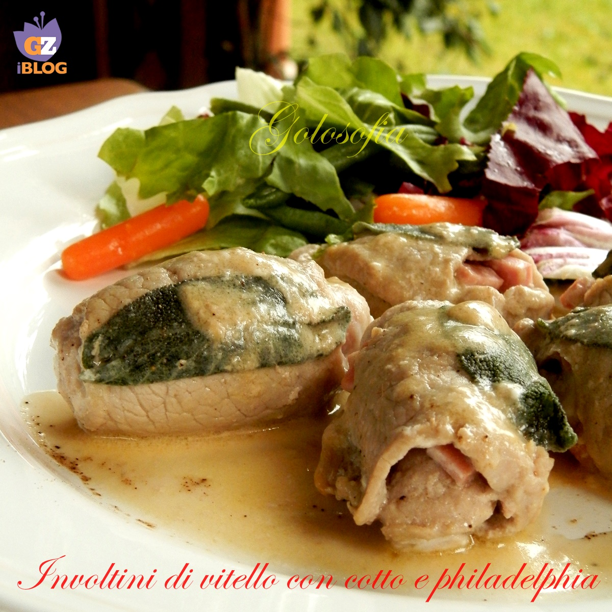 Involtini di vitello con cotto e Philadelphia, ricetta gustosa