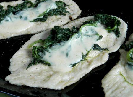 Scaloppine spinaci e formaggio, ricetta gustosa