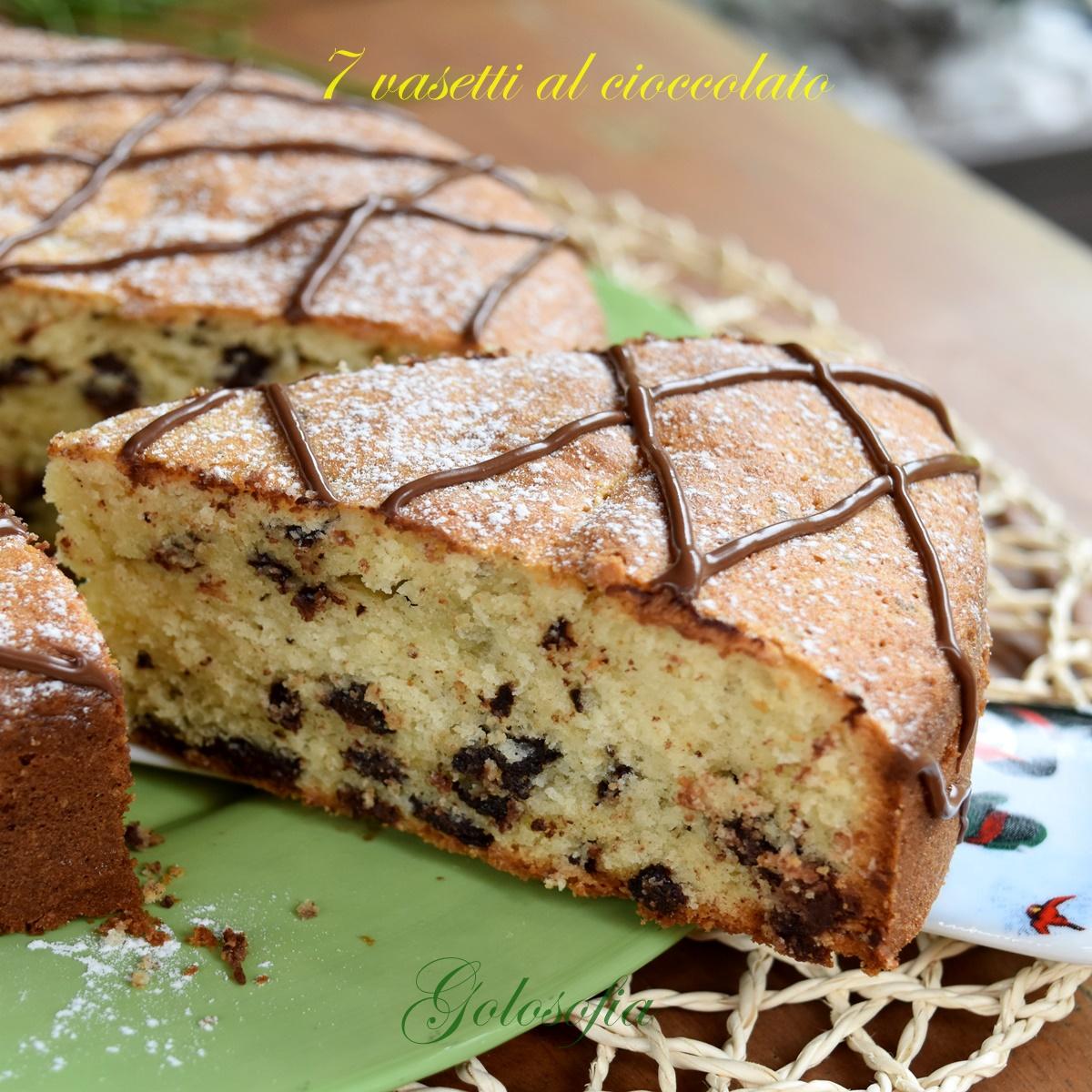 Torta 7 vasetti al cioccolato-ricetta torte-golosofia