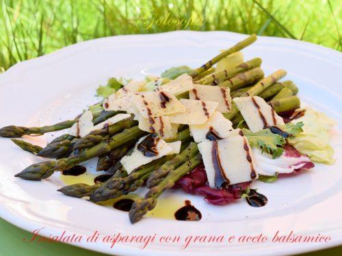 Insalata di asparagi con grana e aceto balsamico, ricetta gustosa