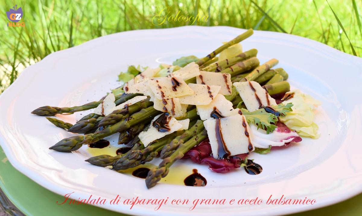 Insalata di asparagi con grana e aceto balsamico-ricetta contorni-golosofia