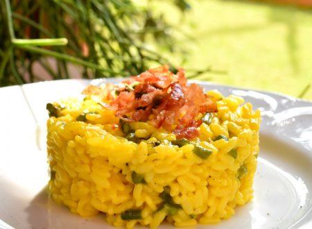 Risotto asparagi, speck e zafferano, ricetta buonissima veloce