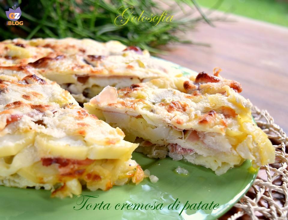 Torta di patate cremosa, ricetta semplice e golosa