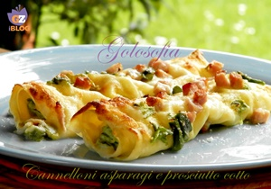 Cannelloni con asparagi e prosciutto cotto-ricetta primi-golosofia