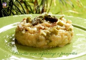 Risotto con asparagi e pancetta-ricetta primi-golosofia