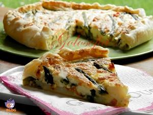 Torta salata asparagi e patate-ricetta torte salate-golosofia